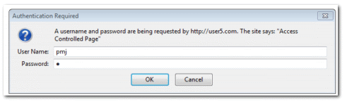 request password dialog box