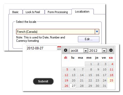 Date localization