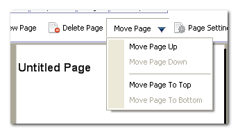 Move pages up/down