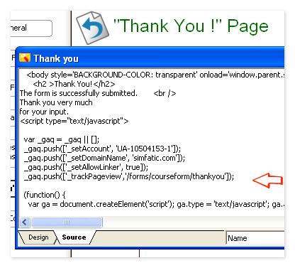 thankyou page custom code